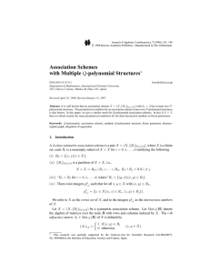 Association Schemes with Multiple -polynomial Structures Q