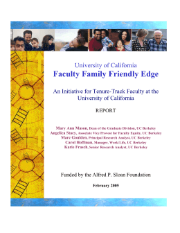 Faculty Family Friendly Edge  University of California