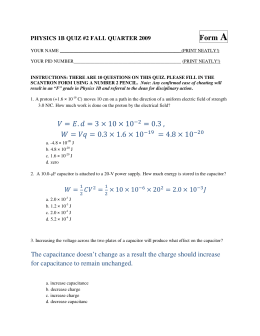 A Form PHYSICS 1B QUIZ #2 FALL QUARTER 2009