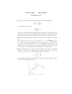 Physics 5040 Spring 2009 Problem Set 2