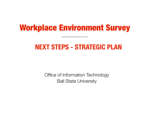 Workplace Environment Survey NEXT STEPS - STRATEGIC PLAN Office of Information Technology