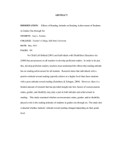 ABSTRACT  DISSERTATION: in Grades One through Six