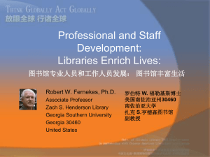 Professional and Staff Development: Libraries Enrich Lives: 图书馆