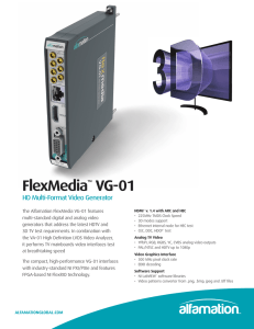 FlexMedia VG-01 HD Multi-Format Video Generator ™