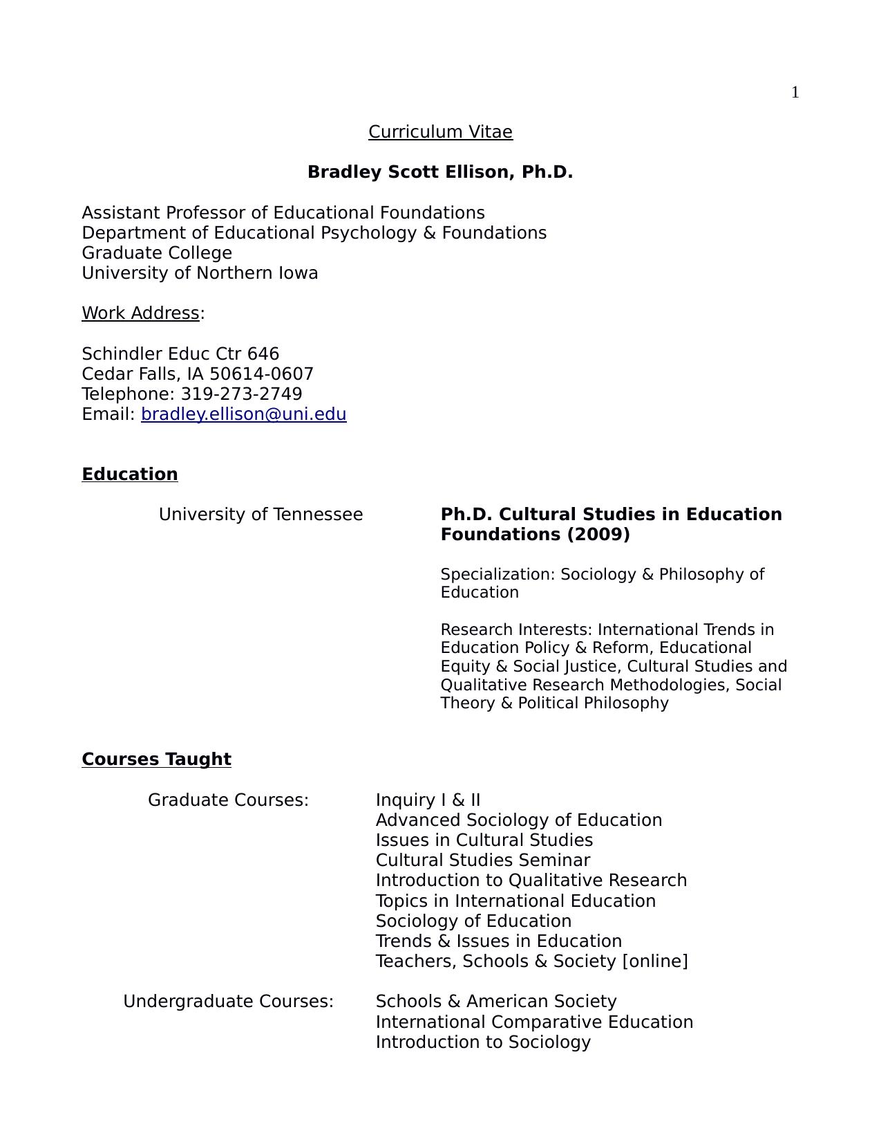 sociology of education topics