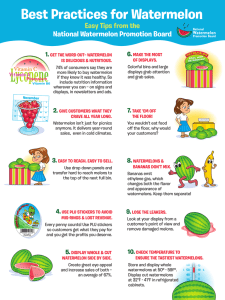 Best Practices for Watermelon National Watermelon Promotion Board Easy Tips from the 6.
