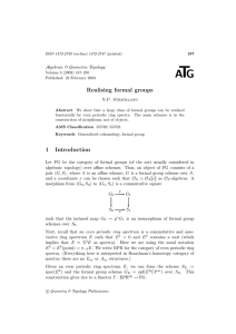 T A G Realising formal groups
