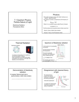 Photons 7.1 Quantum Physics.