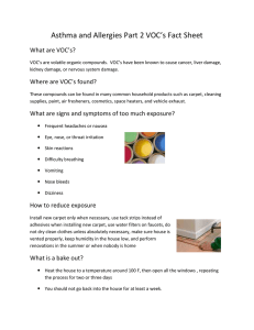 Asthma and Allergies Part 2 VOC's Fact Sheet What are VOC's?