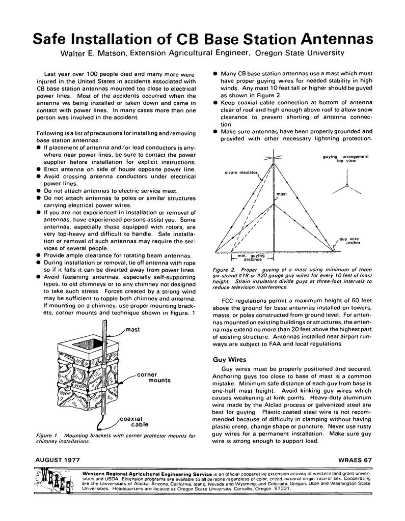 Safe Installation of CB Base Station Antennas