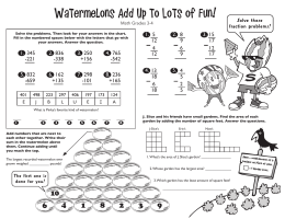 Watermelons Add Up to Lots of Fun! 1. 2. 3.