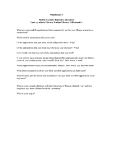 Attachment D  Mobile Usability Interview Questions Undergraduate Library Student/Library Collaborative