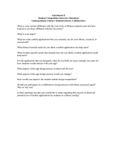 Attachment E Student Competition Interview Questions Undergraduate Library Student/Library Collaborative