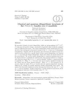 493 ISSN 1364-0380 (on line) 1465-3060 (printed) Geometry & Topology G