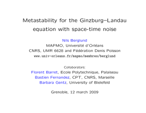 Metastability for the Ginzburg–Landau equation with space-time noise