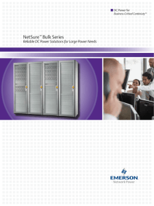 NetSure Bulk Series Reliable DC Power Solutions for Large Power Needs