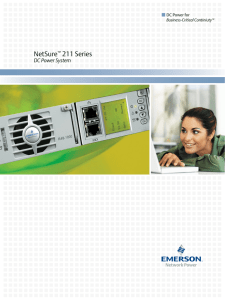 NetSure 211 Series DC Power System DC Power for