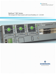 NetSure 501 Series DC Power for