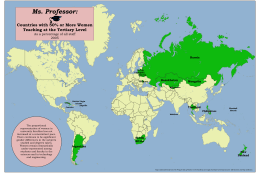 Ms. Professor:  Countries with 50% or More Women