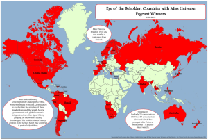 Eye of the Beholder: Countries with Miss Universe Pageant Winners Russia Canada