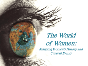 The World of Women: Mapping Women's History and Current Events