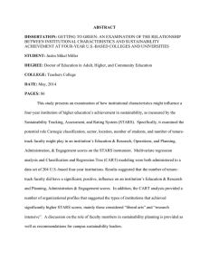 ABSTRACT DISSERTATION: BETWEEN INSTITUTIONAL CHARACTERISTICS AND SUSTAINABILITY