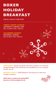 BOXER HOLIDAY BREAKFAST FOREST GROVE CAMPUS