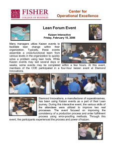 Center for Operational Excellence Lean Forum Event