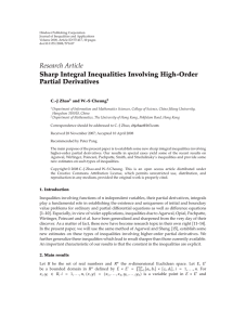 Hindawi Publishing Corporation Journal of Inequalities and Applications
