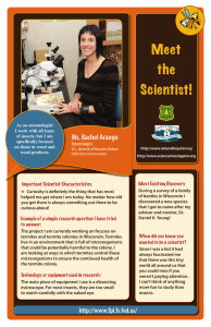 Meet the Scientist! Ms. Rachel Arango