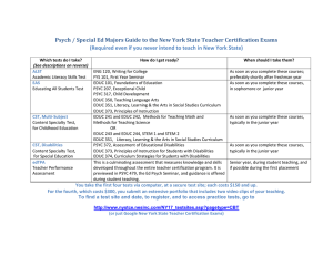 Psych / Special Ed Majors Guide to the New York... (Required even if you never intend to teach in New...
