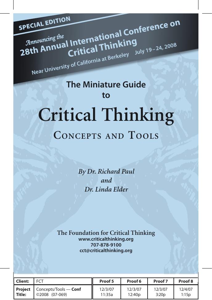 dr richard paul critical thinking