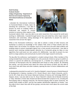 David Grunberg Graduate Student College of Engineering – Department of