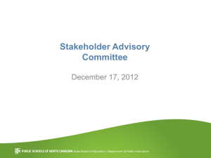 Stakeholder Advisory Committee December 17, 2012