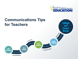 Communications Tips for Teachers
