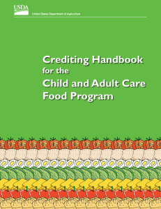Crediting Handbook Child and Adult Care Food Program for the