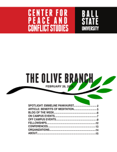 THE OLIVE BRANCH CENTER FOR B A L L
