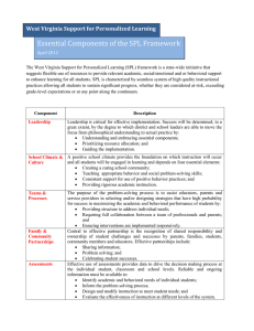 Essential Components of the SPL Framework