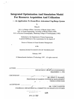 Integrated Optimization And  Simulation  Model -