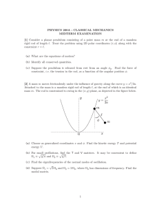 PHYSICS 200A : CLASSICAL MECHANICS MIDTERM EXAMINATION