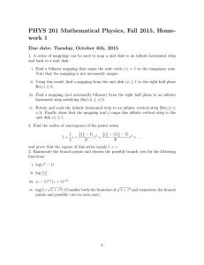 PHYS 201 Mathematical Physics, Fall 2015, Home- work 1