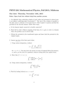 PHYS 201 Mathematical Physics, Fall 2015, Midterm