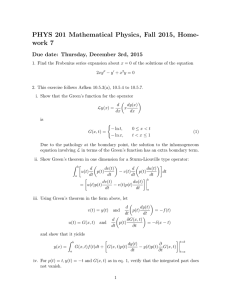 PHYS 201 Mathematical Physics, Fall 2015, Home- work 7