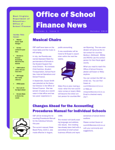 Office of School Finance News
