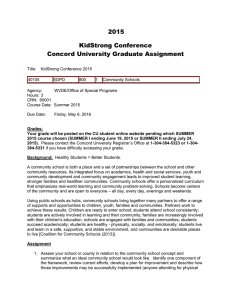 2015 KidStrong Conference Concord University Graduate Assignment