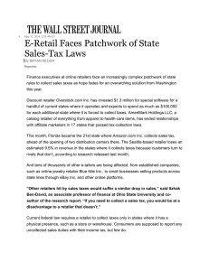 E-Retail Faces Patchwork of State Sales-Tax Laws