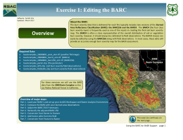 Exercise 1: Editing the BARC About the BARC: