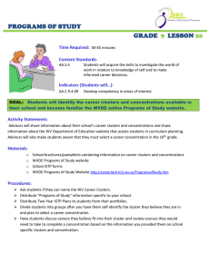 PROGRAMS OF STUDY GRADE LESSON
