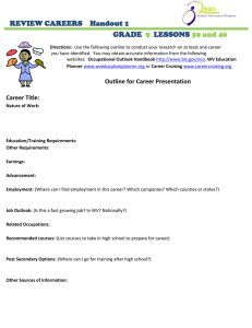 REVIEW CAREERS    Handout 1  GRADE LESSONS
