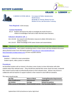 REVIEW CAREERS GRADE LESSON